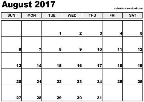 free printable calendar with pictures free printable 2017 calendars august 2017 calendar calendar printable free