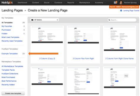 Hubspot Update Exle Templates Hubspot Landing Page Templates