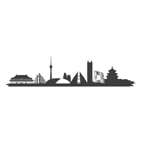 beijing skyline silhouette transparent png amp svg vector
