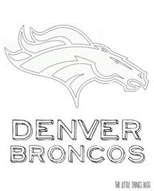 denver broncos coloring pages the things bowl coloring pages