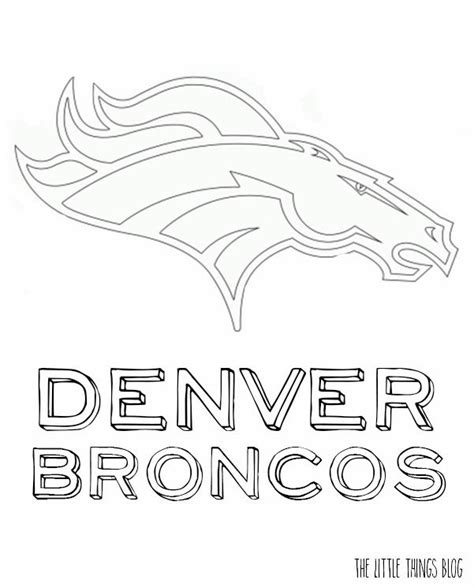 broncos coloring pages denverbroncos free colouring pages