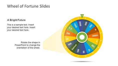 wheel of fortune template editable slide of fortune of wheel slidemodel
