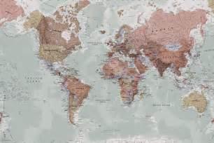 world map wallpaper murals classic world map wallpaper wall mural muralswallpaper co uk