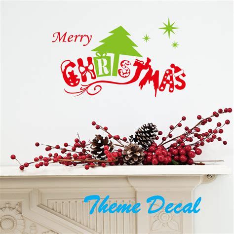 Closing Letter Merry Aliexpress Buy Merry Letter Quote Wall Decal Tree Snow Removable Wall