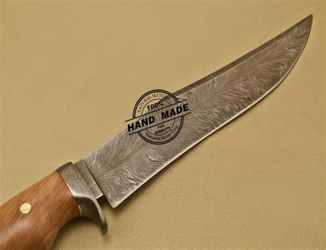 Handmade Bowie - custom handmade damascus steel damascus bowie knife