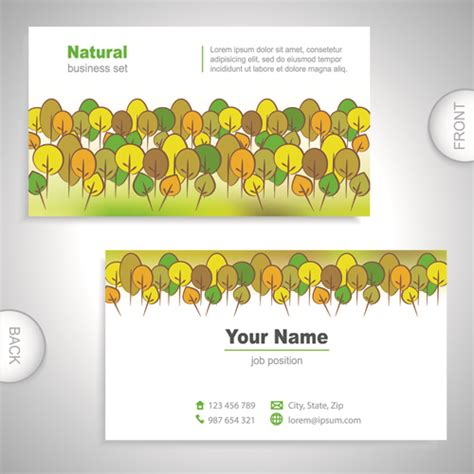 excellent business card templates excellent business cards front back template vector 08