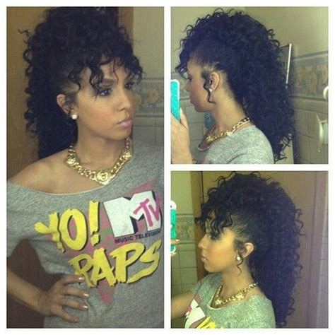 mwahahwk hairstule done using kinky 17 best images about hairstyles on pinterest bobs perm