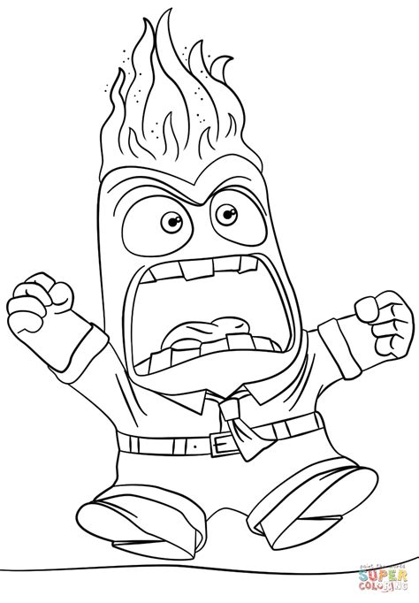 Coloring Page Of Anger From Inside Out | inside out anger coloring page free printable coloring pages