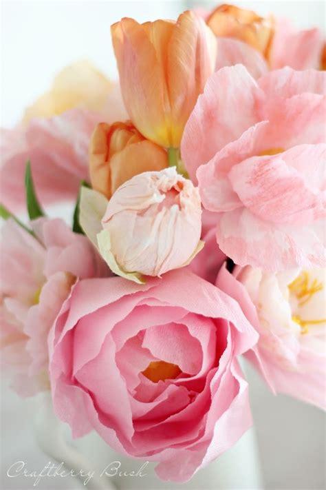 paper flower peony tutorial crepe peony tutorial