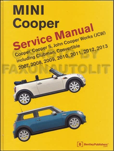 manual repair autos 2011 mini cooper auto manual 2007 2011 mini cooper repair shop manual