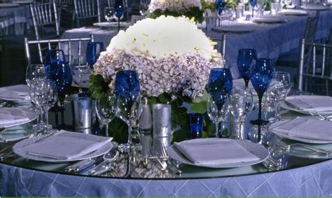 silver and blue table decorations your wedding in colors navy blue and silver arabia weddings