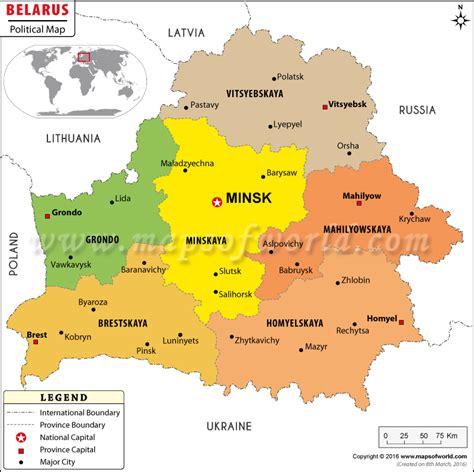 political map of belarus minsk map map of minsk city belarus