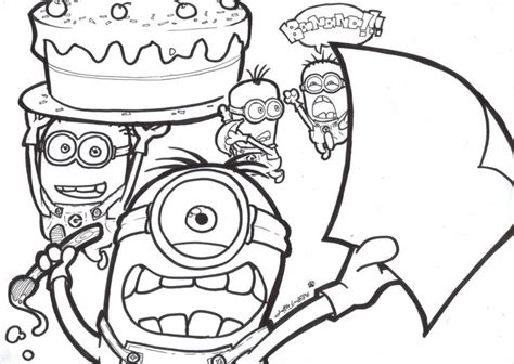 minions coloring pages happy birthday free printable despicable me coloring pages online