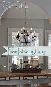 Farmhouse Dining Room Lighting Lighting The Farmhouse Table The Winner All Things And Home