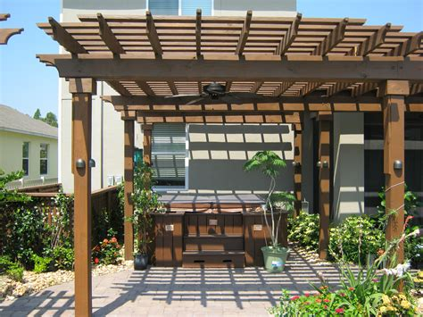 backyard shade structures to enhance backyard appearance