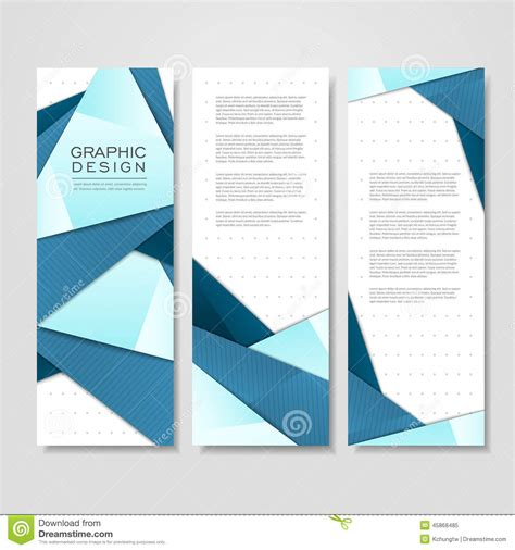 Modern Origami - modern origami style design for banners set stock vector