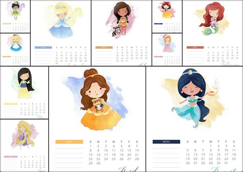 printable calendar 2018 disney disney princess 2018 free printable calendar oh my