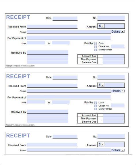 money order receipt template 8 loan receipt templates exles in pdf sle templates