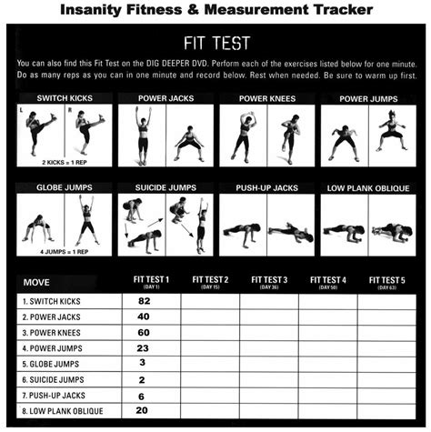 printable gym schedule printable sle insanity workout schedule form fitness