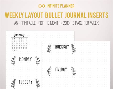 facility layout journal pdf weekly layout 2 page 12 month 2018 bullet journal