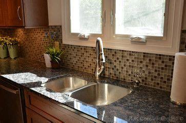 glass tile  baltic brown granite modern mosaic