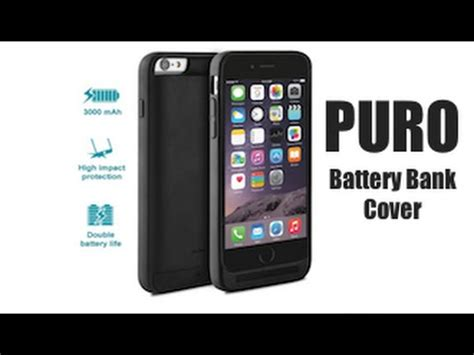 puro battery bank cover etui z baterią 3000mah do iphone 6 6s applenayoutube