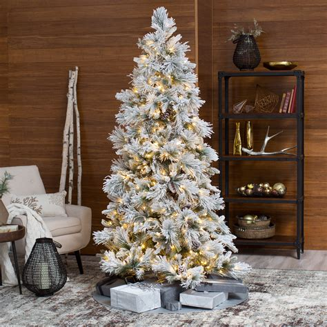 ge alaskan fir flocked pre lit tree best 28 lightly flocked artificial trees shop northlight allstate 7 ft pre lit