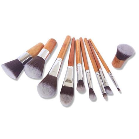 1 Set Kuas Make Up Revlon cosmetic make up brush 11 set with pouch kuas make up