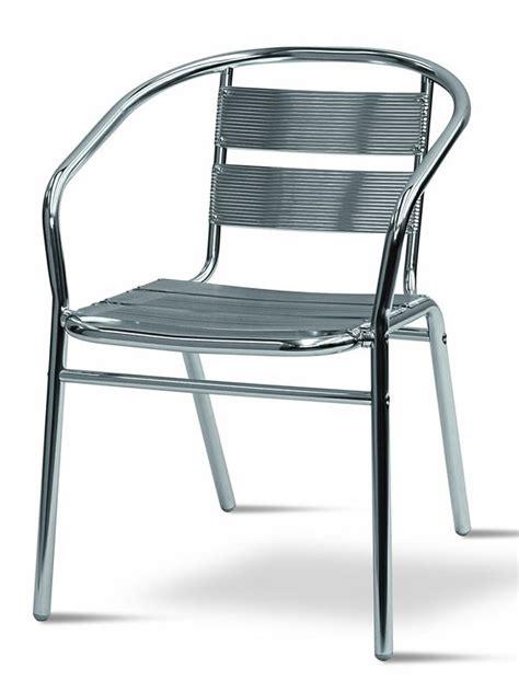 sedie in alluminio per esterno tt11 sedia da giardino in alluminio impilabile sediarreda