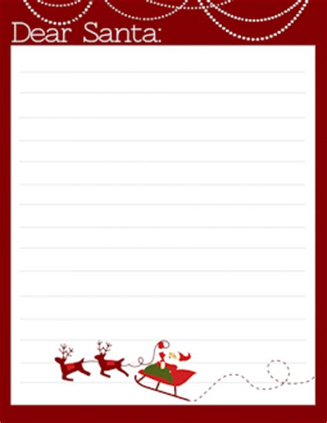 free printable santa letters for babies freebie free letter to santa templates notes to or from