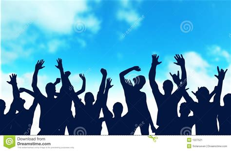 happiness team the happy audience stock image image 1227521