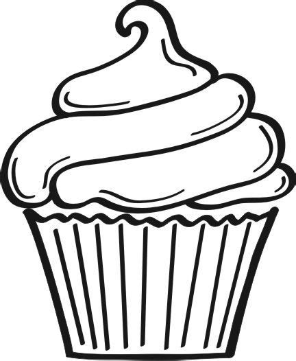 cupcake outline coloring page cupcake outline clip art you are here home graphics