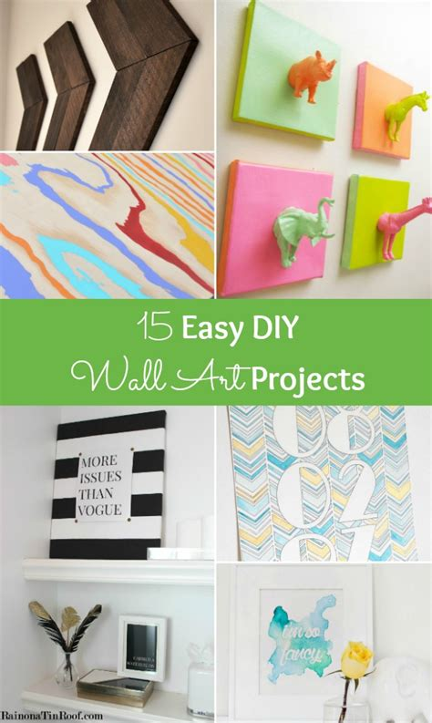 easy simple diy crafts 15 easy diy wall projects