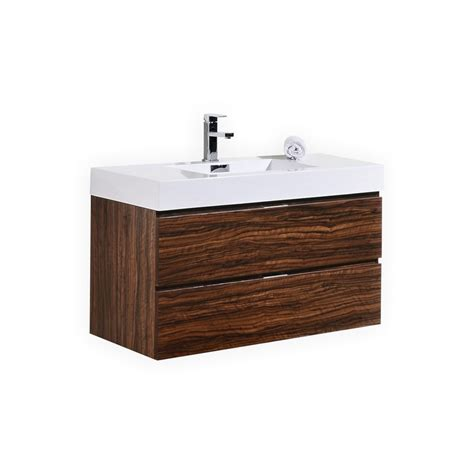 modern walnut bathroom vanity bliss 40 quot walnut wall mount modern bathroom vanity