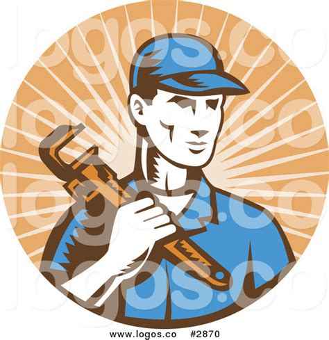 Plumbing Pictures Free by Royalty Free Plumber Beige Rays Logo By Patrimonio