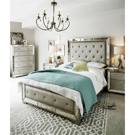 metallic bedroom furniture angelina 6 piece queen bedroom set metallic value city