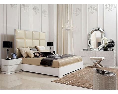 high bedroom sets bedroom set w high headboard modern bed 44b201set
