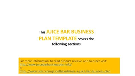 Juice Bar Business Plan Cold Pressed Juices And Others Juice Bar Business Plan Template Free