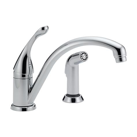 delta kitchen faucet with sprayer delta collins single handle side sprayer kitchen faucet in