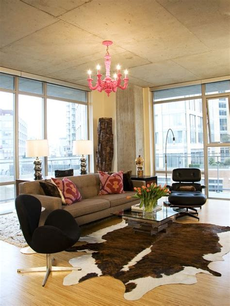 cowhide rug living room ideas cowhide rug home design ideas pictures remodel and decor
