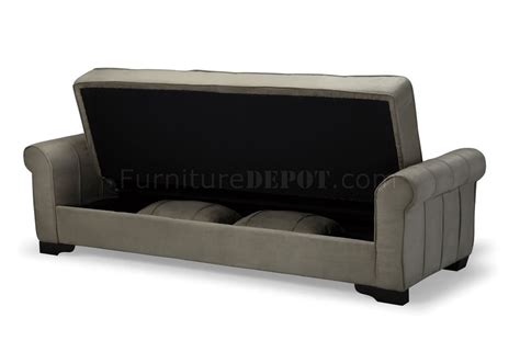 Sleeper Sofa With Storage Delux Mocha Microfiber Sleeper Sofa With Storage