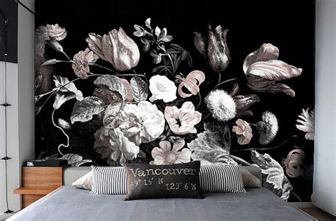 Wallpapers For Bedroom Walls dark floral removable wallpaper peel amp stick self adhesive