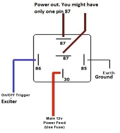 automotive relay wiring diagram relay wiring diagram 8 pin