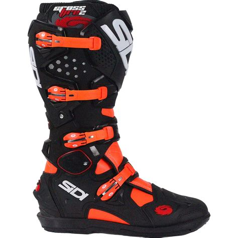 sidi crossfire motocross boots sidi 2017 new mx crossfire 2 srs black ktm flo orange