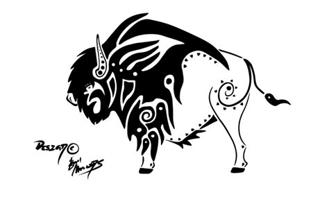 tribal bison