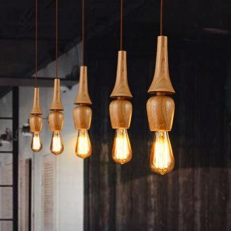 dining room hanging light fixtures american village wooden droplight edison bulb modern