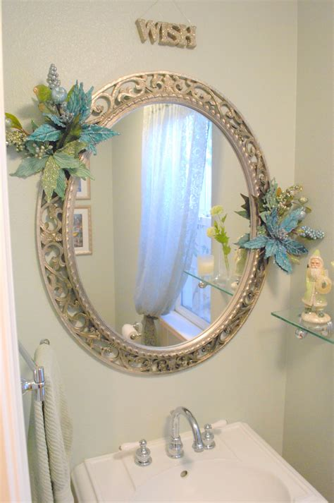 mirror decorations fair 40 small bathroom mirror decorating ideas design