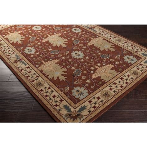 Mission Area Rugs 3x8 Runner Arts Crafts Mission Style William Morris Rust Brown Wool Area Rug Crafts Runners