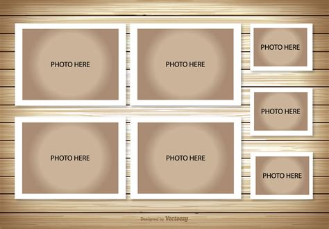 picture collage template photo collage template free vector stock
