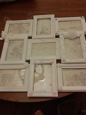 White Shabby Cottage Chic Picture Frame Collage Pink Shabby Chic Collage Frame
